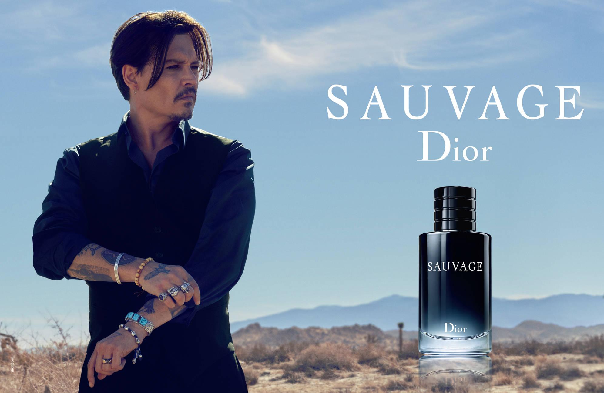 Johnny Depp, porte-parole du parfum « Sauvage »